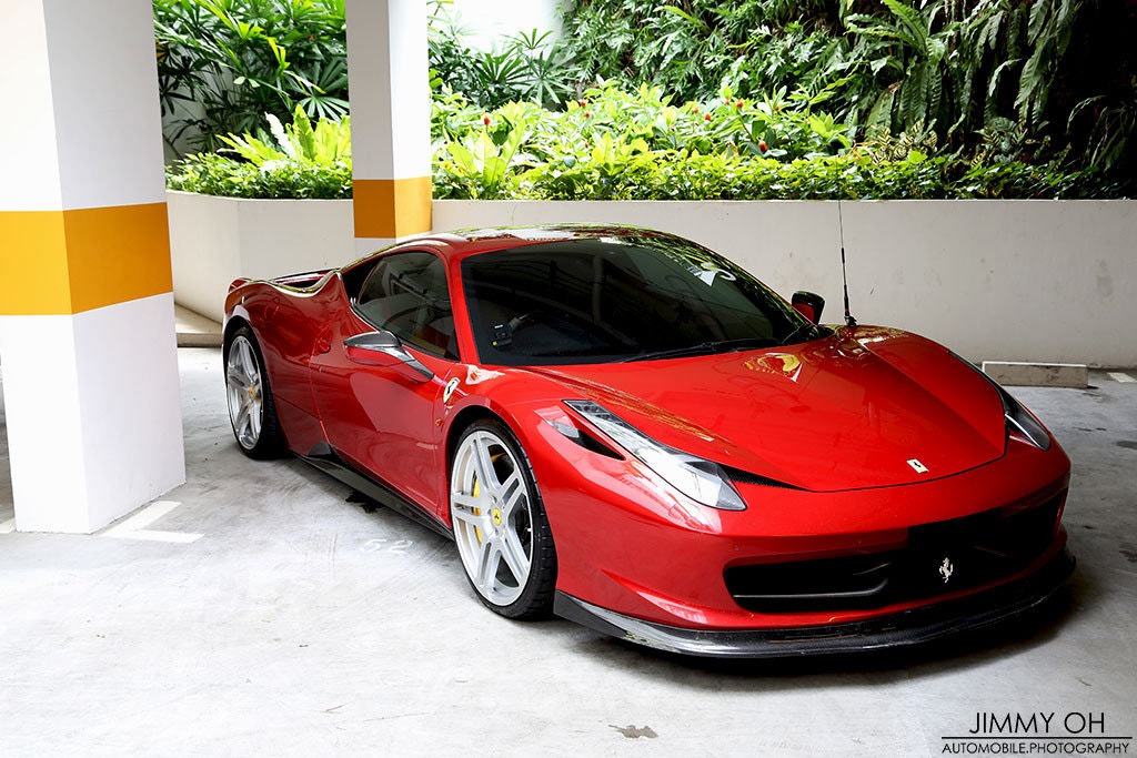 Photograph Ferrari 458 Italia Rosso Fuoco by Jimmy Oh on 500px