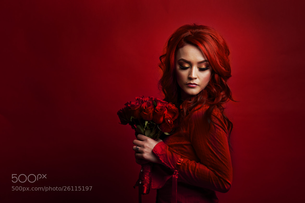 Photograph Red with Flowers by Adam Allen on 500px