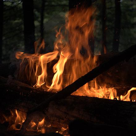 Stoking the Fire, Nikon D610, AF Zoom-Nikkor 28-80mm f/3.5-5.6D