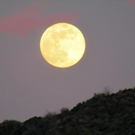 luna rise moon desert, Canon POWERSHOT SX420 IS