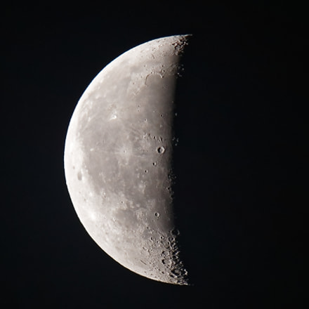 Moon 2018-06-07, Canon EOS REBEL T7I, Canon EF 100-400mm f/4.5-5.6L IS II USM