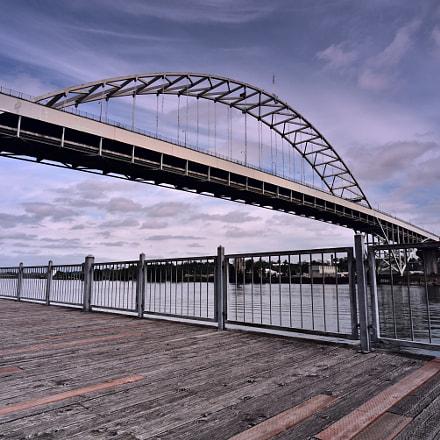 Fremont Bridge, Nikon D750, AF Nikkor 20mm f/2.8D