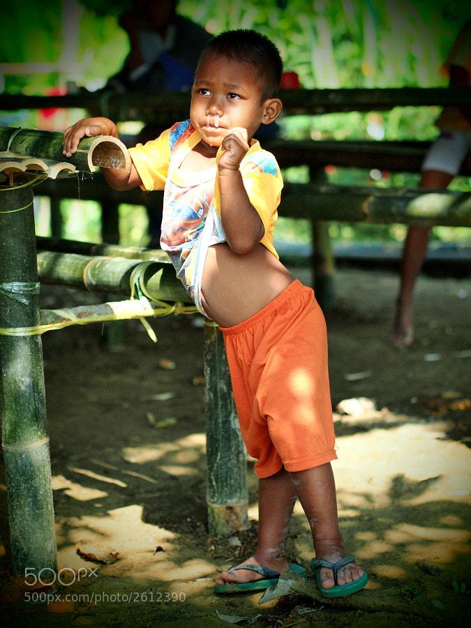 Orang Asli (native aborigines) kid in Ulu Tamu, Selangor, Malaysia.