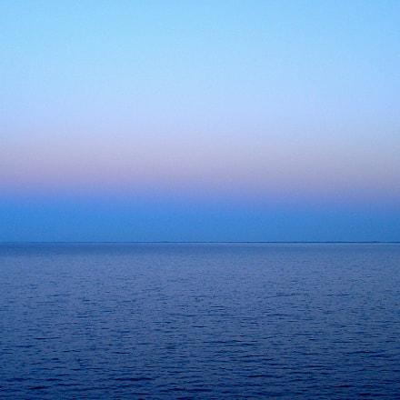 Blue hour in Lillebaelt, Sony DSC-W70