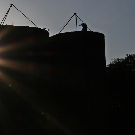 Silo sunset, Canon EOS 60D, Tamron 16-300mm f/3.5-6.3 Di II VC PZD Macro