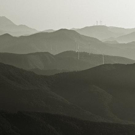 wind generator(B/W), Nikon D810