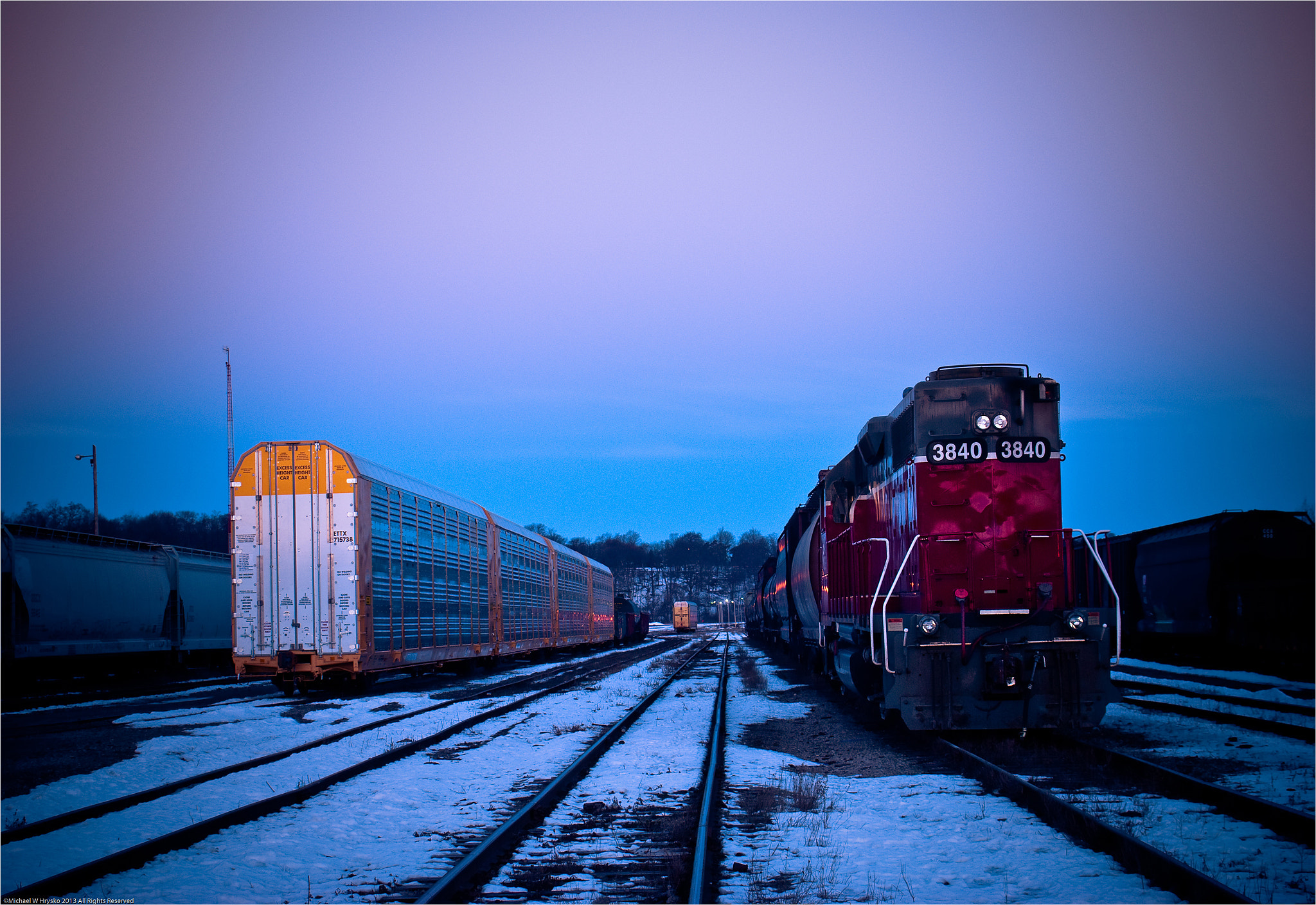 Photograph First Light on the Rails... by Michael W Hrysko Photography on 500px