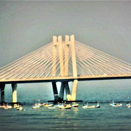 Mumbai Sea-Link Bridge and, Nikon COOLPIX S9200