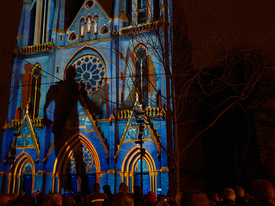 A performance during the Glow festival of light in Eindhoven
