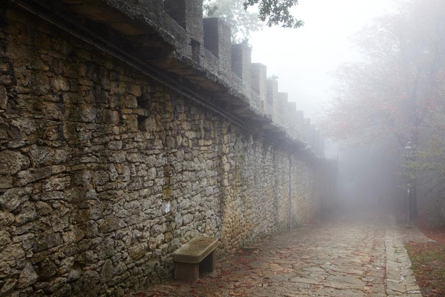 A foggy day in San Marino
