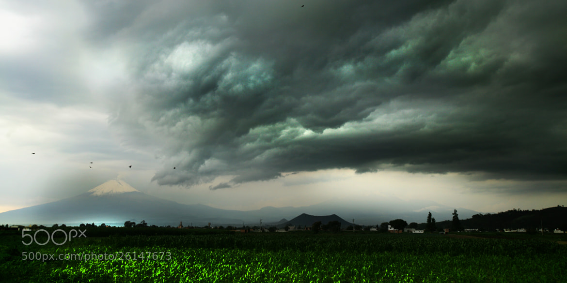 Photograph Popocatepetl and storm by Cristobal Garciaferro Rubio on 500px