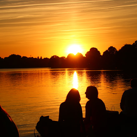 Sundown an der Alster, Canon EOS 80D