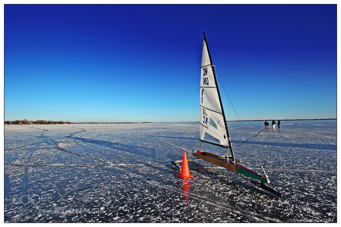 Photograph Ice Sailing on the St Lawrence River by David Kajaks on 500px