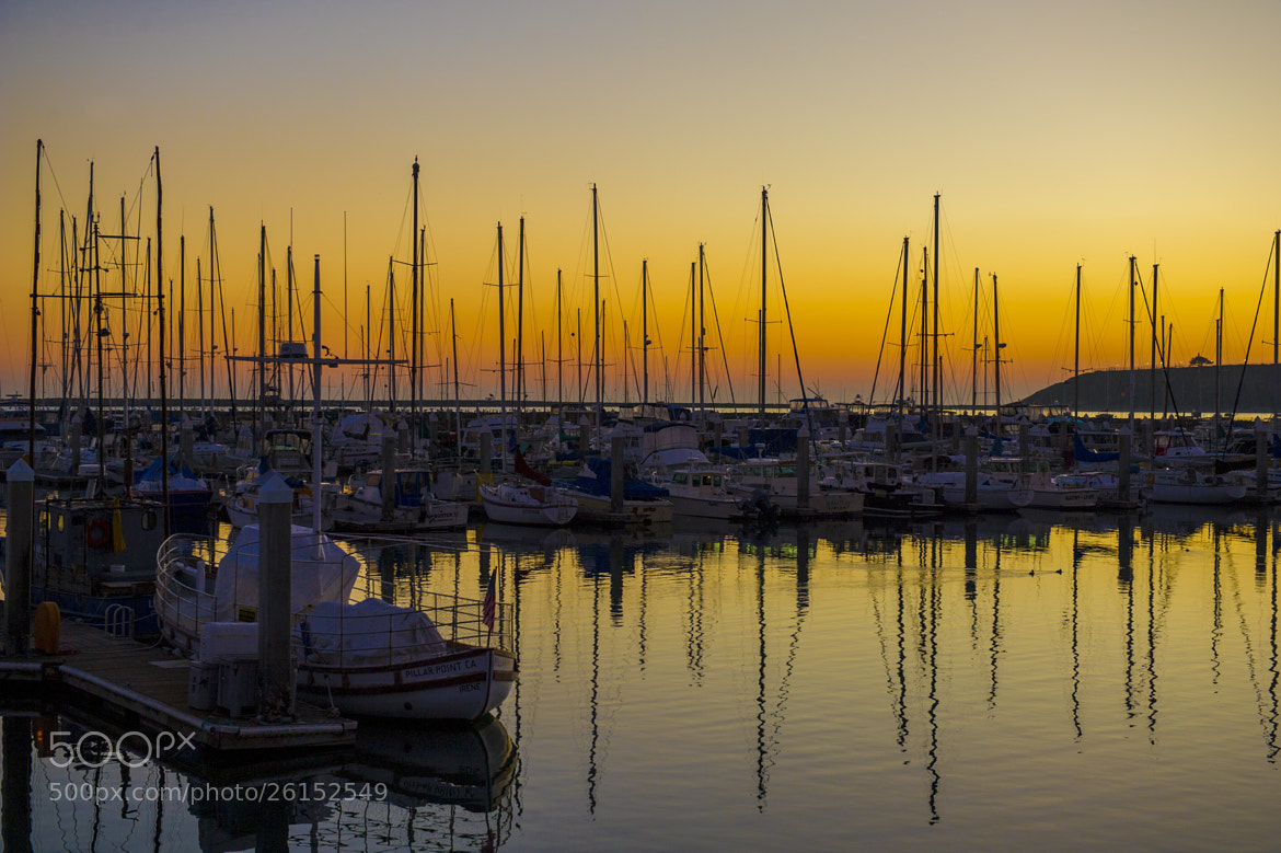 Photograph Moored boats in Californian sunset by Tim Lowry on 500px