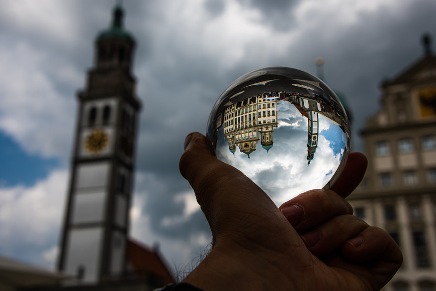 In Augsburg : Germany , with a Lensball by Benjamin Ballande on 500px.com