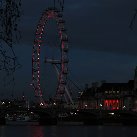 London Eye at night, Canon EOS 30D, Canon EF-S17-85mm f/4-5.6 IS USM