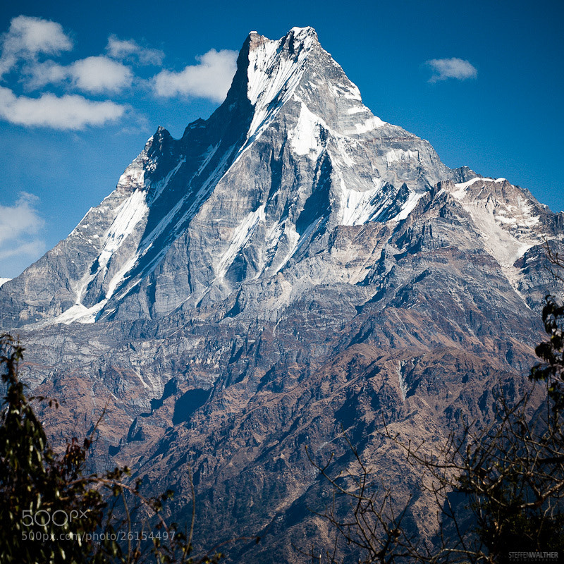 Photograph Machapuchare (Mt. Fishtail), Nepal, Himalaya by Steffen Walther on 500px