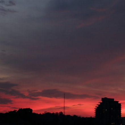 Dusk sky view from, Canon EOS REBEL T4I, Canon EF-S 18-135mm f/3.5-5.6 IS