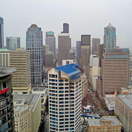 Seattle Skyline circa 2010, Sony DSC-W290