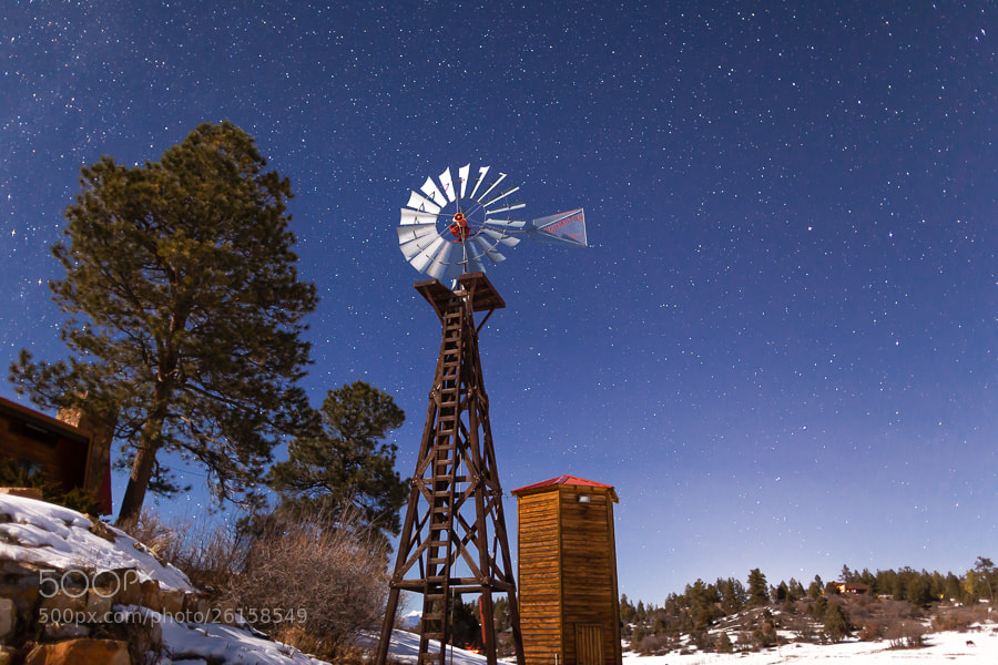 Photograph Windmill and Stars, Pagosa Springs, Colorado by Stanton Champion on 500px