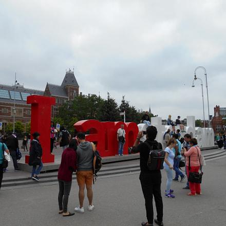 Rijksmuseum & I Amsterdam Letters, Nikon COOLPIX A100