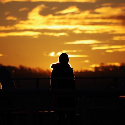 Sunrise Silhouette, Pentax K-50, smc Pentax-DA L 50-200mm F4-5.6 ED WR