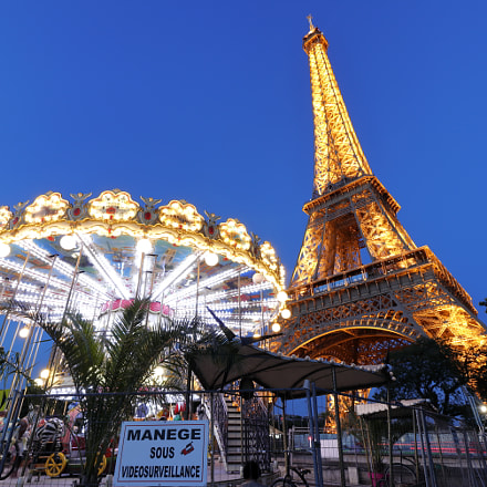 Carousel by the Eiffel, Canon EOS 77D
