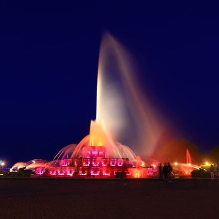 Buckingham fountain Chicago, Canon EOS 77D