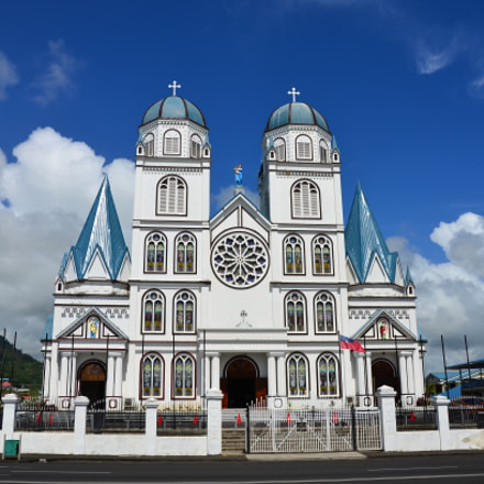 Catholic Cathedral.  Apia, Samoa, Nikon D7000, AF-S DX VR Zoom-Nikkor 18-200mm f/3.5-5.6G IF-ED [II]