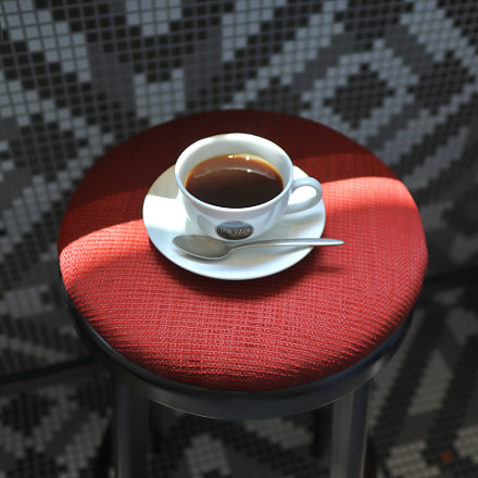 Coffee on the chair, Canon EOS KISS M