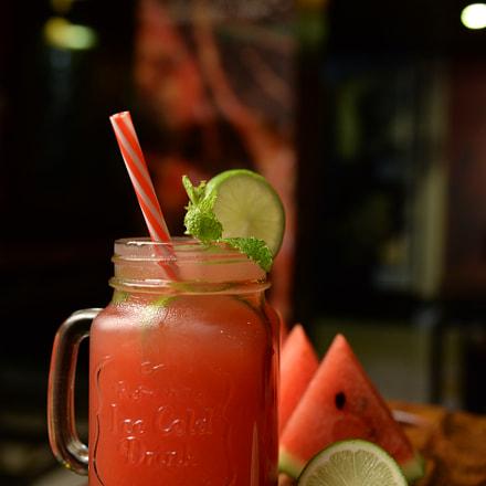 watermelon juice, Nikon D610, AF-S Nikkor 24-120mm f/4G ED VR