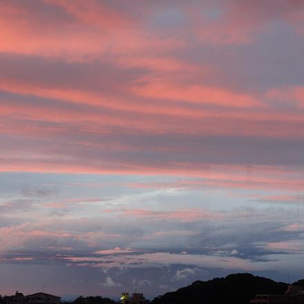 Sunset clouds, Fujifilm X-A3