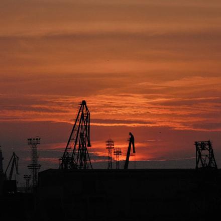 Industrial sunset, Sony DSC-H200