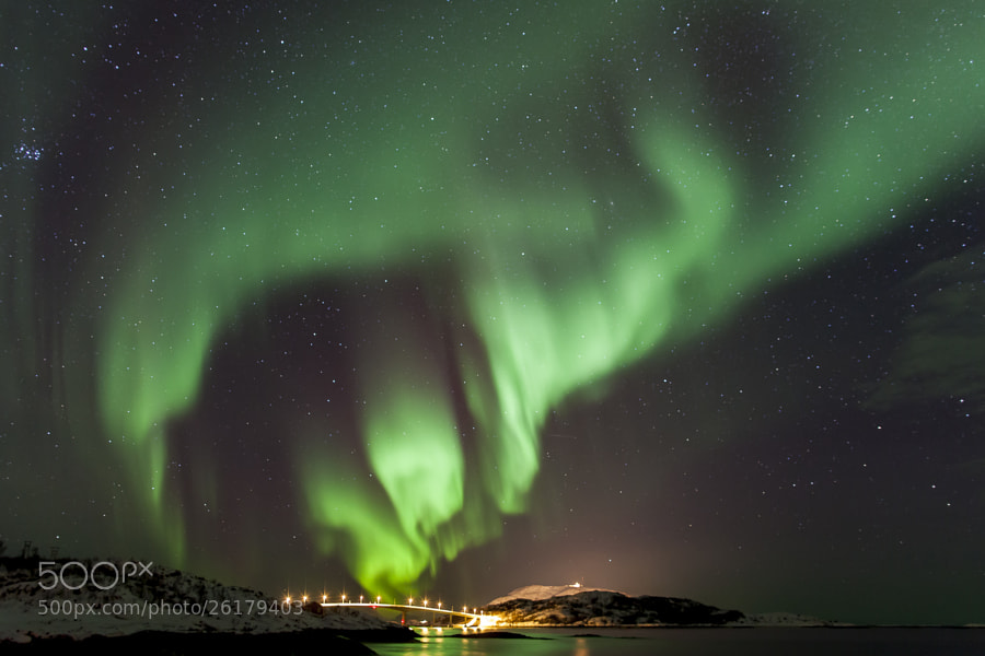 Aurora over Sōmmaroy Norway