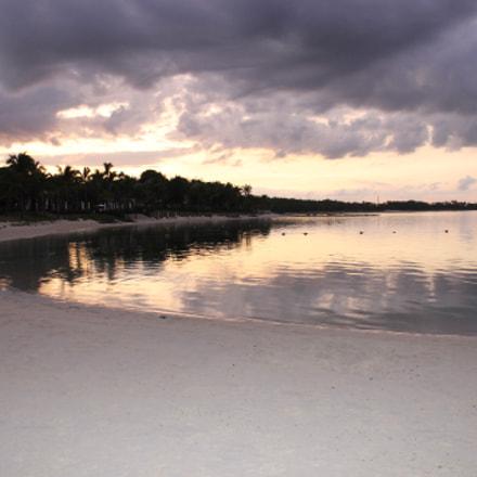 Beautiful Sunset on Beach, Canon EOS 1100D