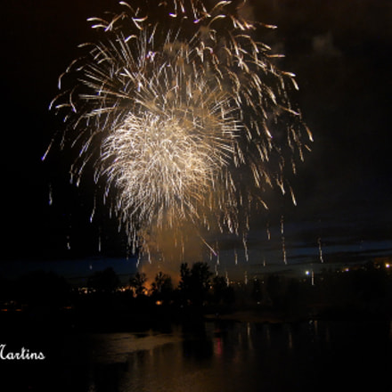 Fuegos Artificiales - Salamanca, Nikon D60, AF-S DX Zoom-Nikkor 18-55mm f/3.5-5.6G ED II
