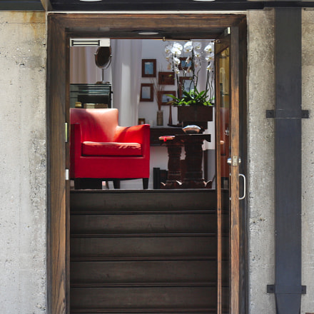 Chair in doorway, Canon EOS REBEL T4I, Canon EF-S 18-55mm f/3.5-5.6 IS II