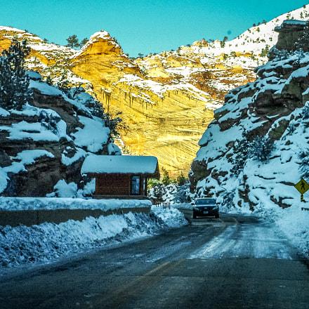 Sun and snow, Fujifilm FinePix S7000