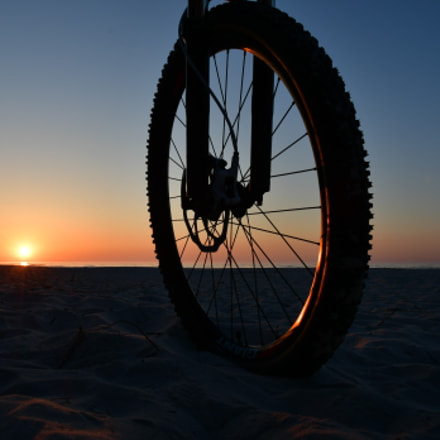 A bicycle on the, Nikon D500