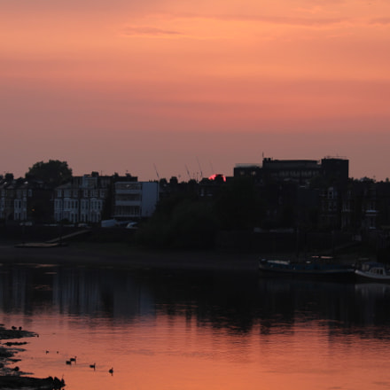 Hammersmith Bridge Sunset, Canon EOS 1300D, Canon EF-S 55-250mm f/4-5.6 IS STM