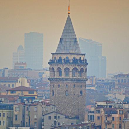 Galata tower remote view, Nikon D3200, Tamron SP 70-300mm f/4-5.6 Di VC USD (A005)