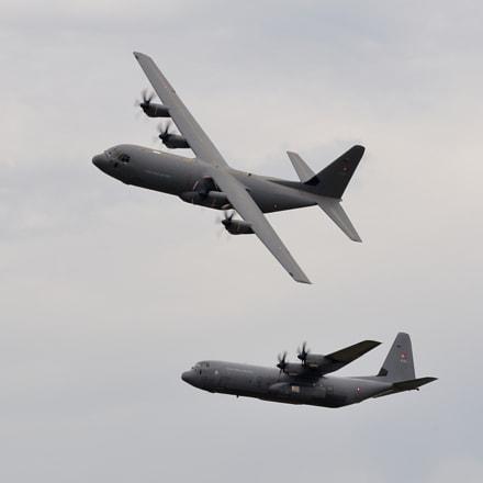 Danish C-130 Hercules Formation, Nikon D7000, Sigma APO 100-300mm F4 EX IF HSM