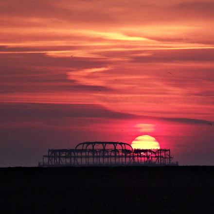 Sunset on WestPier, Fujifilm FinePix S2500HD