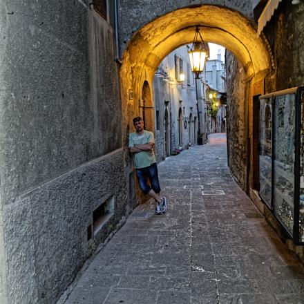 San Marino street, Nikon D5000, AF-S DX VR Zoom-Nikkor 18-55mm f/3.5-5.6G