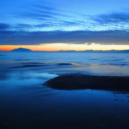 utah lake at dusk, Nikon D3000, AF-S DX VR Zoom-Nikkor 18-55mm f/3.5-5.6G