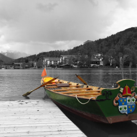 Tegernsee, the rowing ferry., Canon POWERSHOT SX160 IS