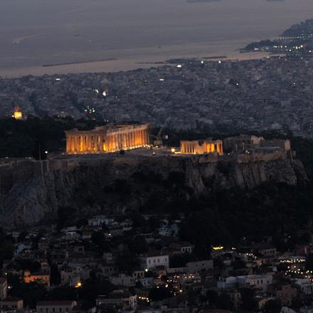 The Parthenon from Lycabettus, Nikon COOLPIX P520