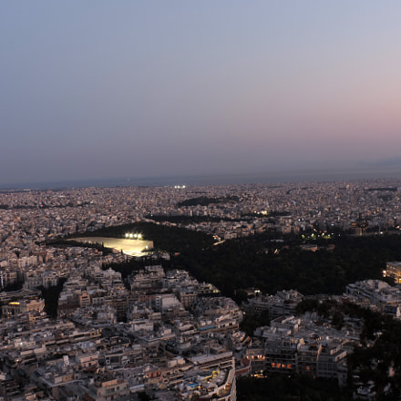 Athens from Lycabettus Hill, Nikon COOLPIX P520