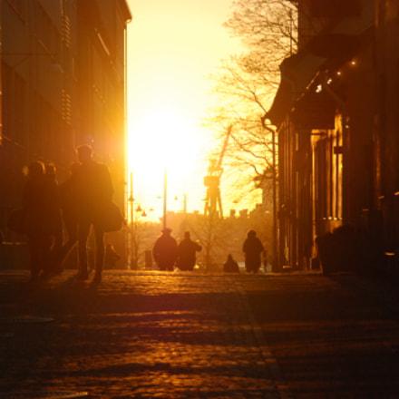 Golden sky and city, Nikon D80, Tamron AF 18-200mm f/3.5-6.3 XR Di II LD Aspherical (IF) Macro (A14)