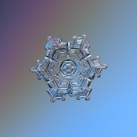 Real snowflake macro photo, Canon POWERSHOT A650 IS